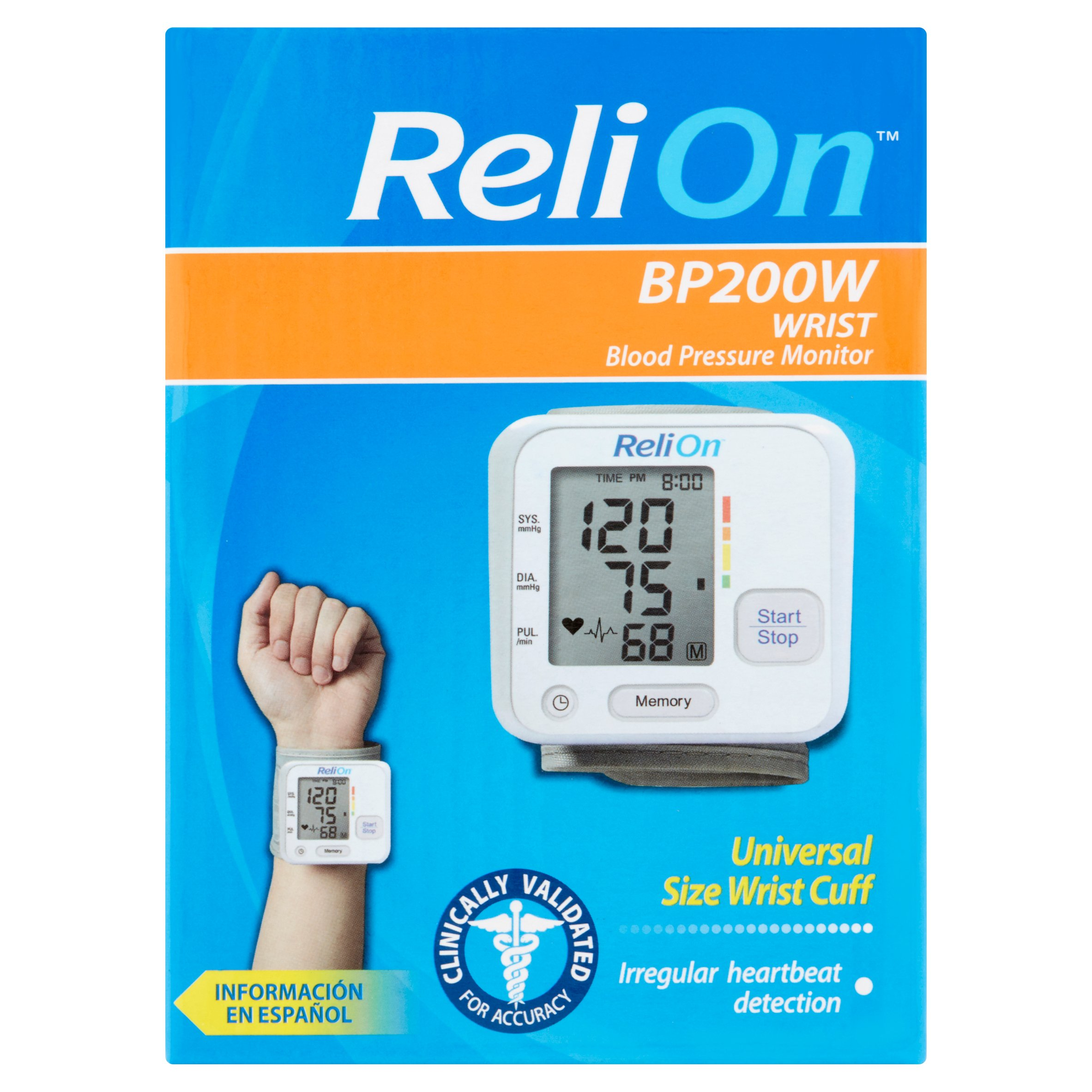 ReliOn Wrist Blood Pressure Monitor, BP200W
