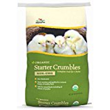Manna Pro Poultry Organic Starter Crumbles Chicken Feed, 30 lbs.