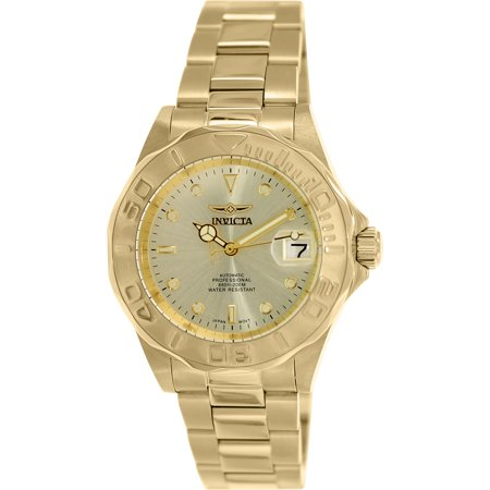 Mens Automatic Dive Watch (Men's Men Automatic Pro Diver G2 9010 Gold Stainless-Steel Automatic Diving Watch)