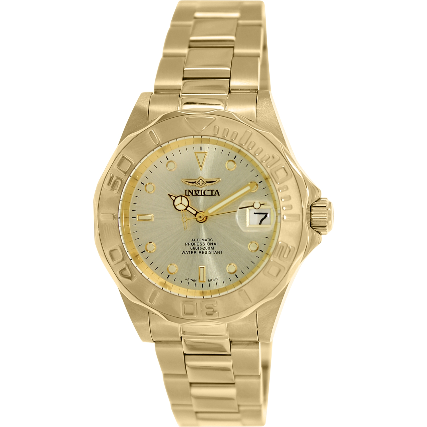 Invicta Men's Men Automatic Pro Diver G2 9010 Gold Stainless-Steel Automatic Diving Watch