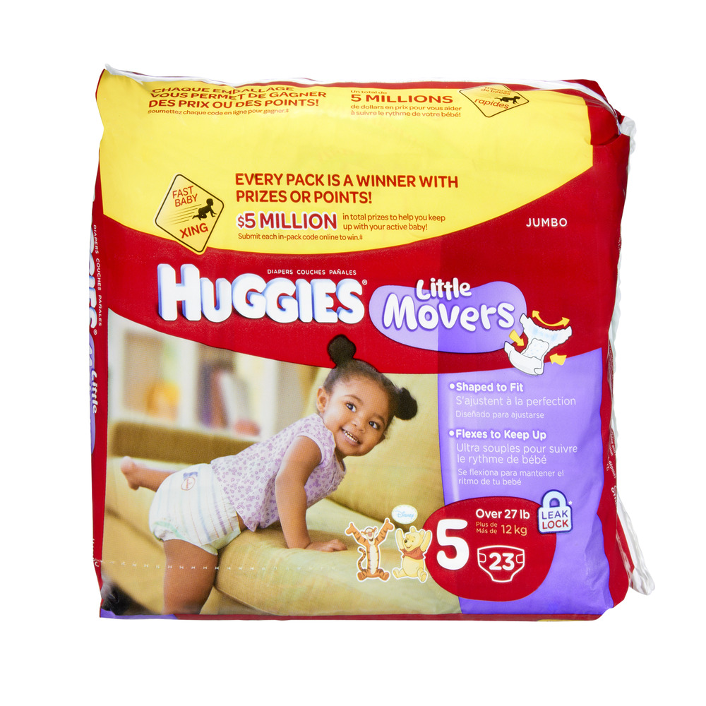 Upc 036000119602 Huggies Little Movers Diapers 27 Lbs Jumbo Pack Size 5 Upcitemdb Com