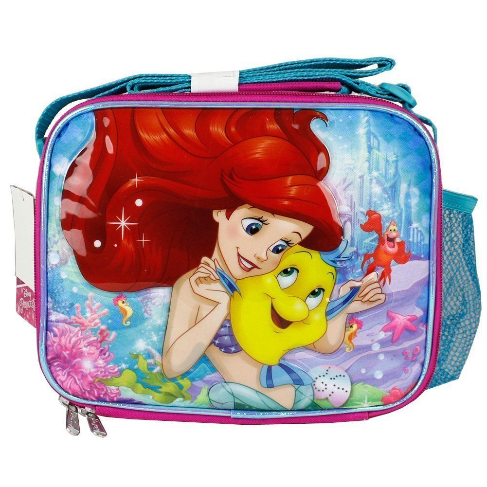 Disney The Little Mermaid Pink Lunch Bag