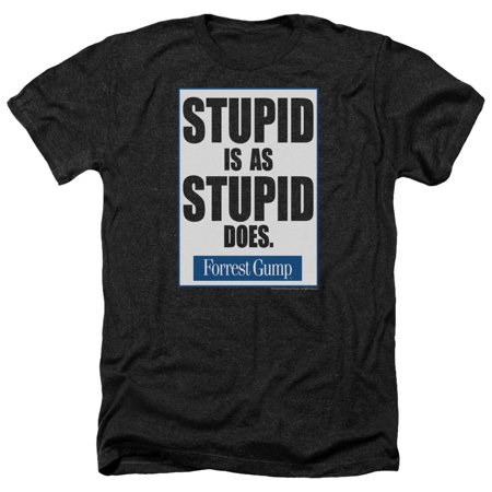 Forrest Gump Stupid Is Mens Heather Shirt (Forrest Gump Outfit)