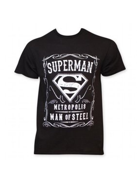 2646fba6d9f040 Product Image Superman 25698M Superman Whiskey Style Mens Tee Shirt
