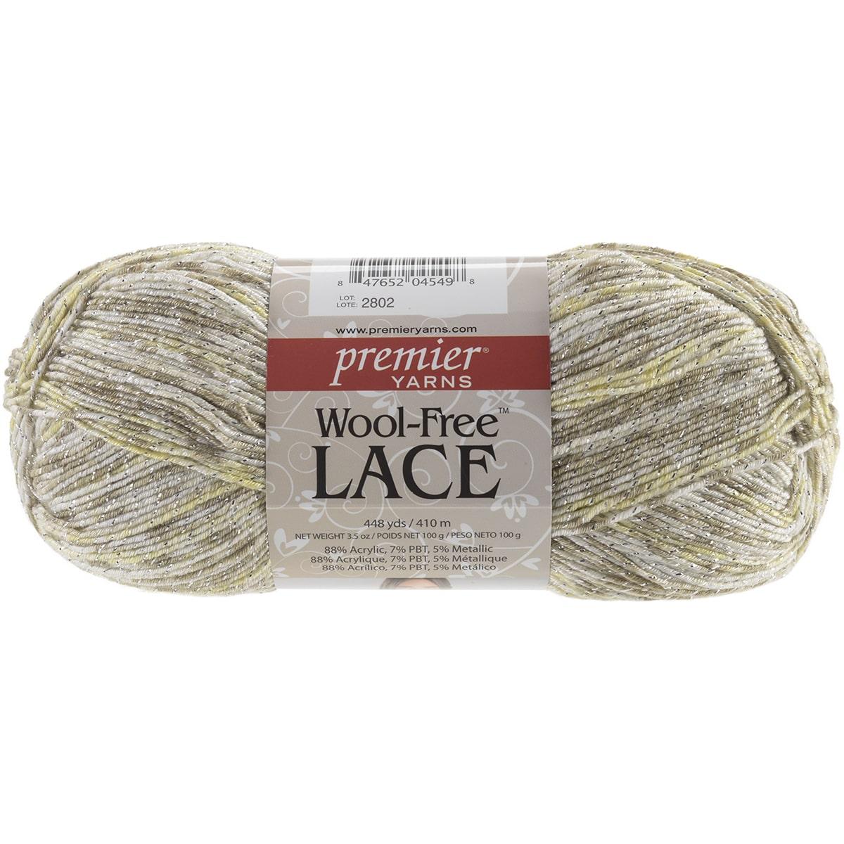 Wool-Free Lace Yarn-White Gold - image 2 of 2