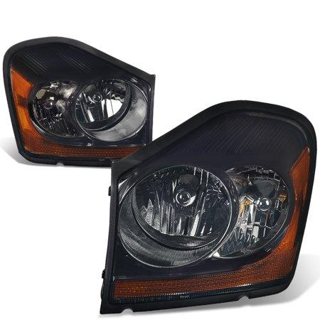 Corner Lights Lens - For 04-06 Dodge Durango Pair of Headlight (Smoked Lens Amber Corner) 05