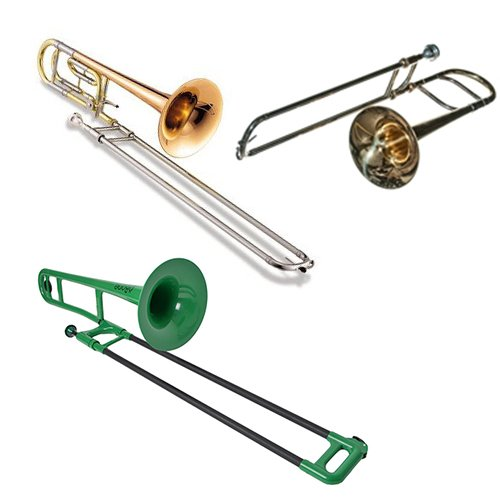 Triple Trombone Pack - Band Directors Choice Alto Trombone, F Attachment Trombone +