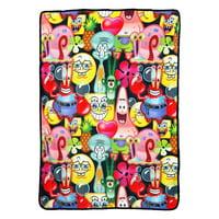 "Spongebob Squarepants Mashup Bob 46"" x 60"" Super Plush Throw Blanket"
