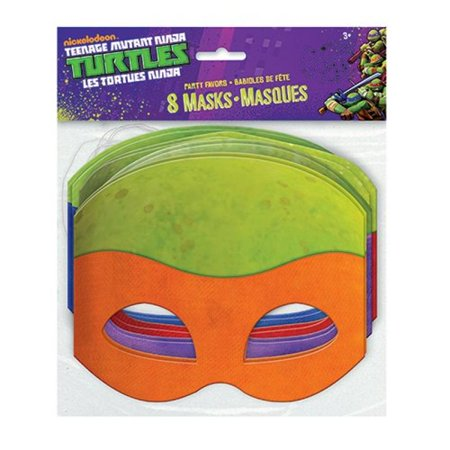 Paper Teenage Mutant Ninja Turtles Masks, Assorted 8ct - Ninja Turtle Baby Shower Cake