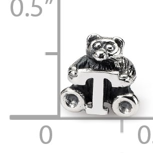 925 Sterling Silver Charm For Bracelet Kids Letter T Bead Kid Line Fine Jewelry For Women Valentines Day Gifts For Her - image 3 de 8