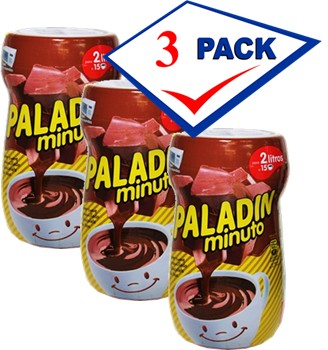 Paladin Spanish Hot Chocolate Mix 1 pound Imported from Spain Pack of 3