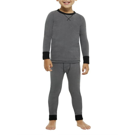 ClimateRight by Cuddl Duds Toddler Boy Fleece Warm Underwear 2 Pc Set