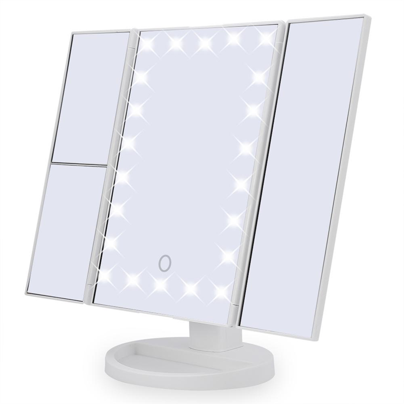 22 Led Cosmetic Mirror, Portable 180� Rotatable Mirror, Touch Switch Panel Vanity Mirror,... by Eb Network Technology