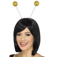 "28"" Gold Glitter Ball Boppers Unisex Adult Halloween Headband Costume Accessory - One Size"