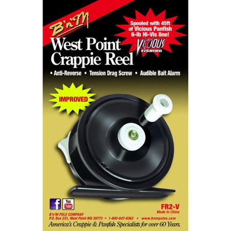 B'n'M West Point Crappie Fishing Reel with Vicious Line thumbnail