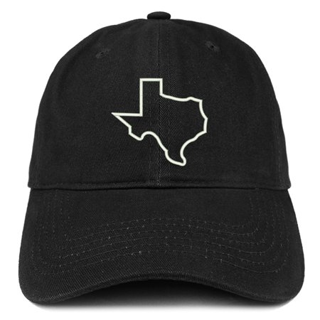 Texas State Outline Embroidered Brushed Cotton Dad Hat Cap - Black](Chinese New Year Hat)