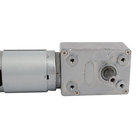 JGY-395 DC12V 200RPM D Shaft Brushed Turbine Worm Reduction Gearbox DC Motor - image 2 de 3