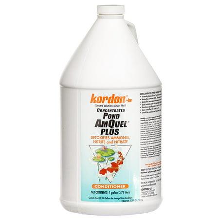 3 000 Gallon Treats - Kordon Pond AmQuel Plus Conditioner - Concentrate 1 Gallon - (Treats 19,200 Gallons)