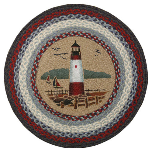 Earth Rugs Lighthouse Printed Area Rug