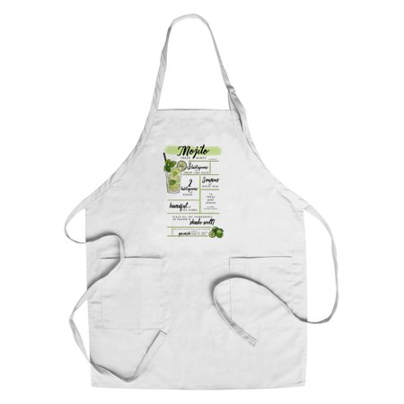 Mojito - Cocktail Recipe - Lantern Press Artwork (Cotton/Polyester Chef's Apron)