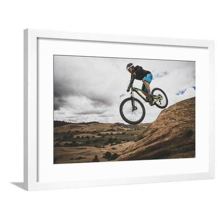 Dane Cronin Mountain Biking The Slickrock Trail In The Sand Flats Recreation Area, Moab, Utah Framed Print Wall Art By Louis (Best Bike Trails In Bay Area)
