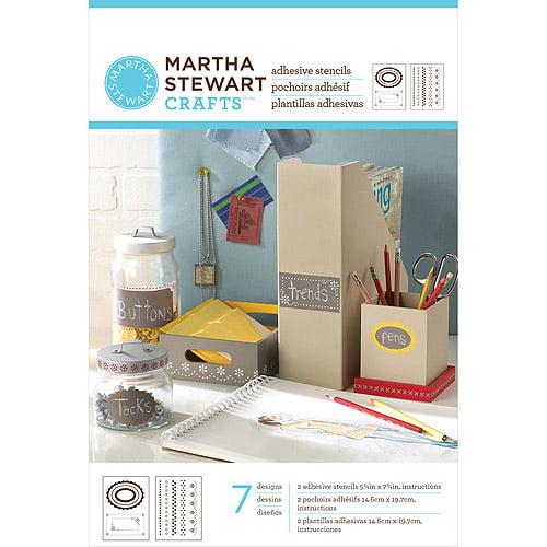 """Martha Stewart Adhesive Stencils 5, 3/4"""" x 7, 3/4"""" 2 Sheets/pkg, Pretty Borders 7 Designs"""