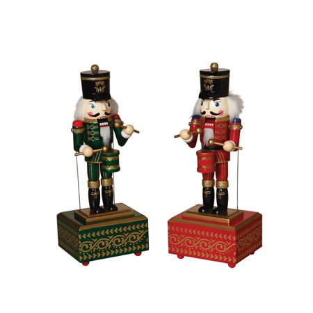 Holiday Nutcracker Windup Squared Musical Moving Christmas Collectible Decor Set