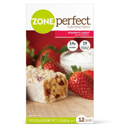 ZonePerfect Nutrition Bar, Strawberry Yogurt, 14g Protein, 12 Ct