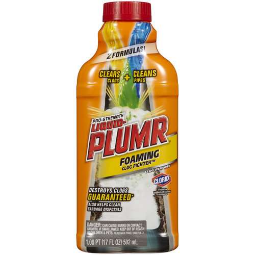 Liquid-Plumr Pro-Strength Clog Remover, Slow Flow Fighter, 17 Fluid Ounces