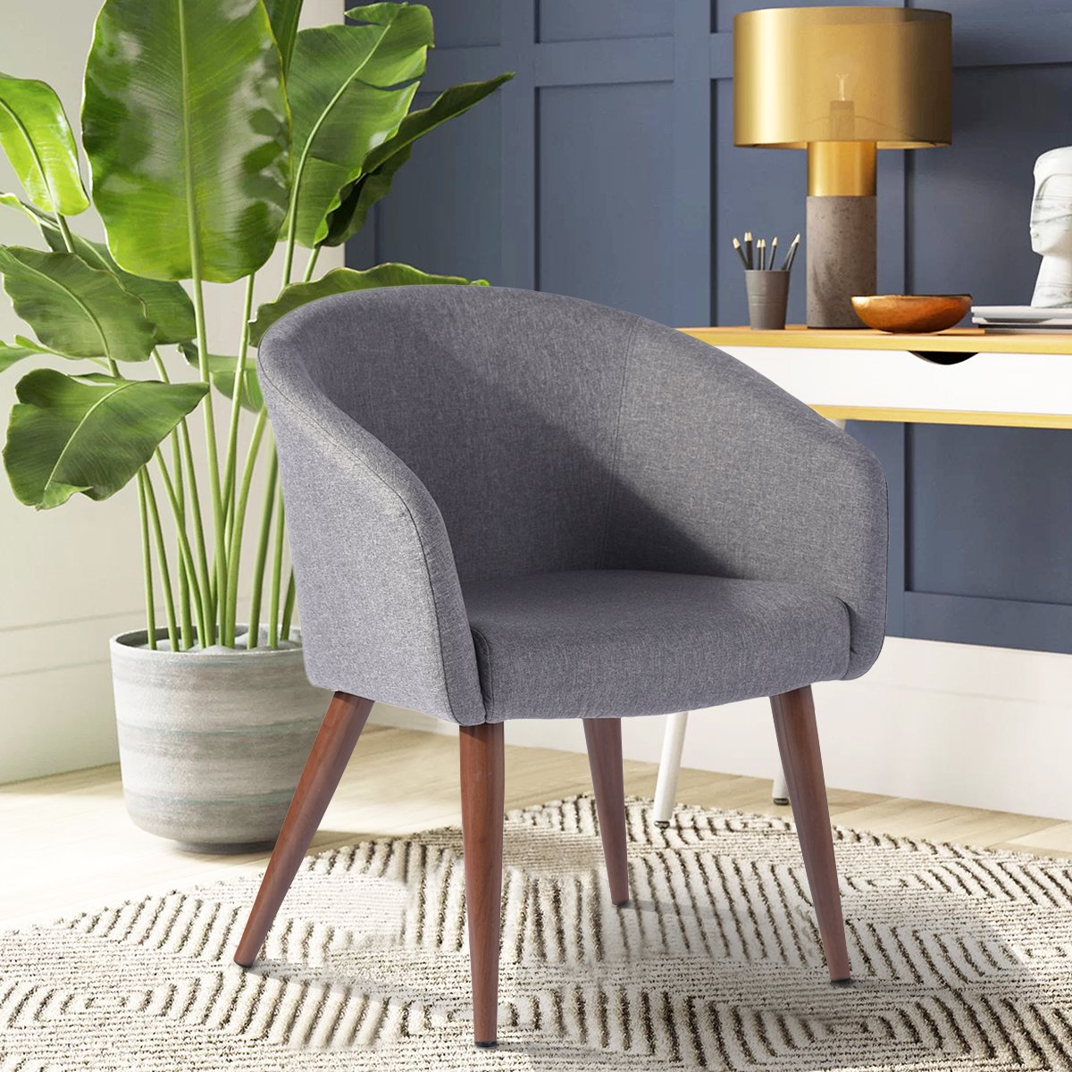 Furniture R Leisure Side Chairs Fabric Seat Back For Dining And Living Room Grey Walmart Canada