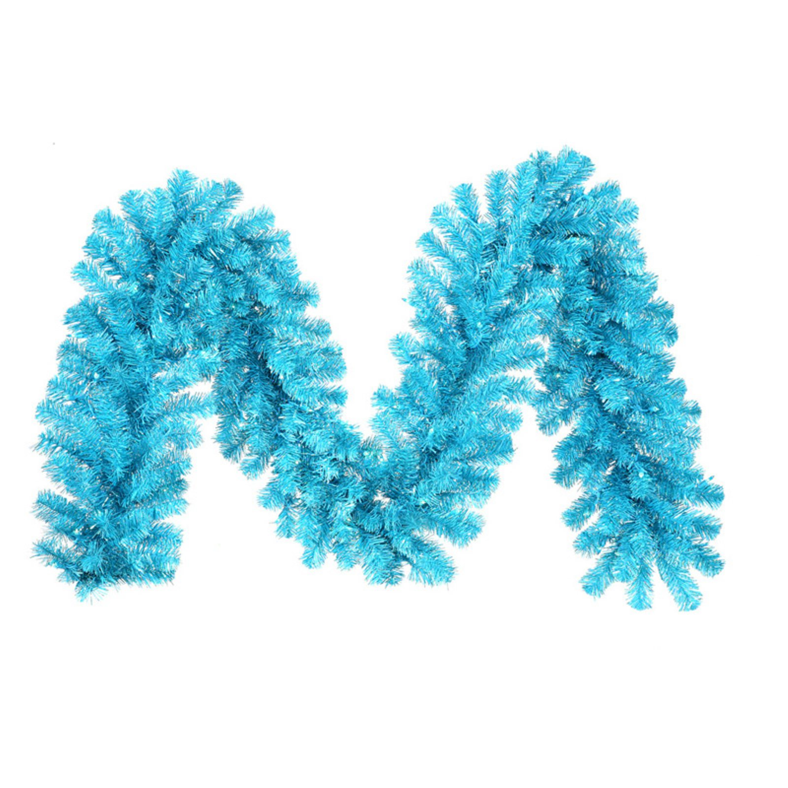 Vickerman 9' Sky Blue Artificial Christmas Garland with 70 Teal Lights