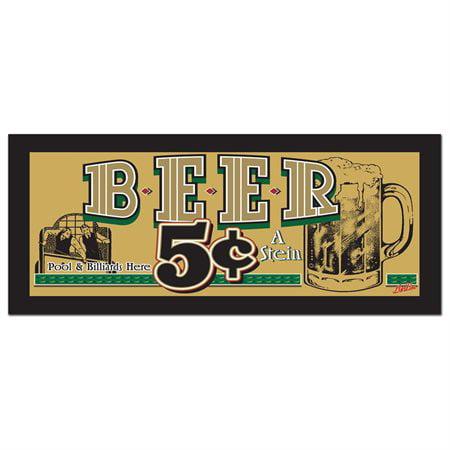 "Trademark Fine Art ""beer 5 Cents"" Canvas"