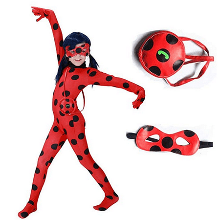 Wolf Halloween Costumes For Girls (Ladybug Costume for Girls Halloween Miraculous Ladybug Child Costume Halloween Costumes for Gilrs)