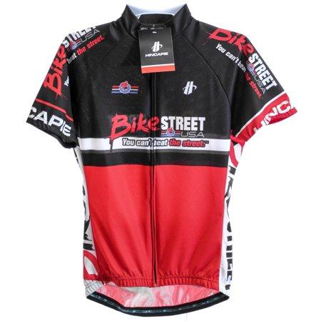 HINCAPIE AXIS Women's Cycling Jersey Lg Short Sleeve Red/Black BIKE STREET NEW ()
