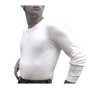 Andrew Scott Mens Fleece Line Base Layer Long-Sleeve Thermal Crew Neck Shirt M