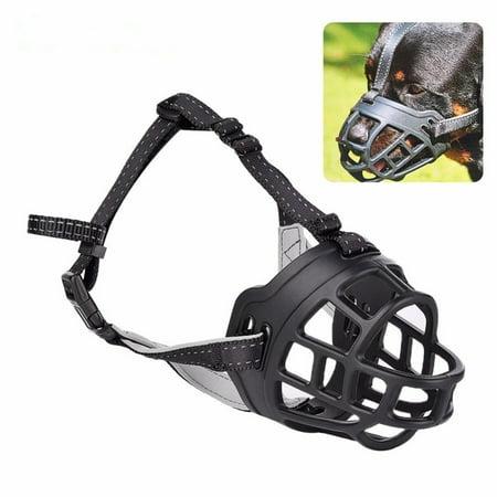 Roofei Dog Masks Dog Mouth Adjustable Compression Anti-bite Silicone Dog Dog Mouth Dog Mask Training Dog Pet Supplies Black 1-5# - image 8 de 8