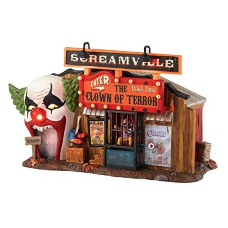 Department 56 Snow Village Halloween Clown House of Terror Lit Building, 5.59 inch for $<!---->