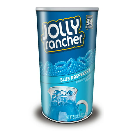 Jolly Rancher Drink Mix Canister, Blue Raspberry, 80 Oz, 1 - Blue Raspberry Jolly Ranchers