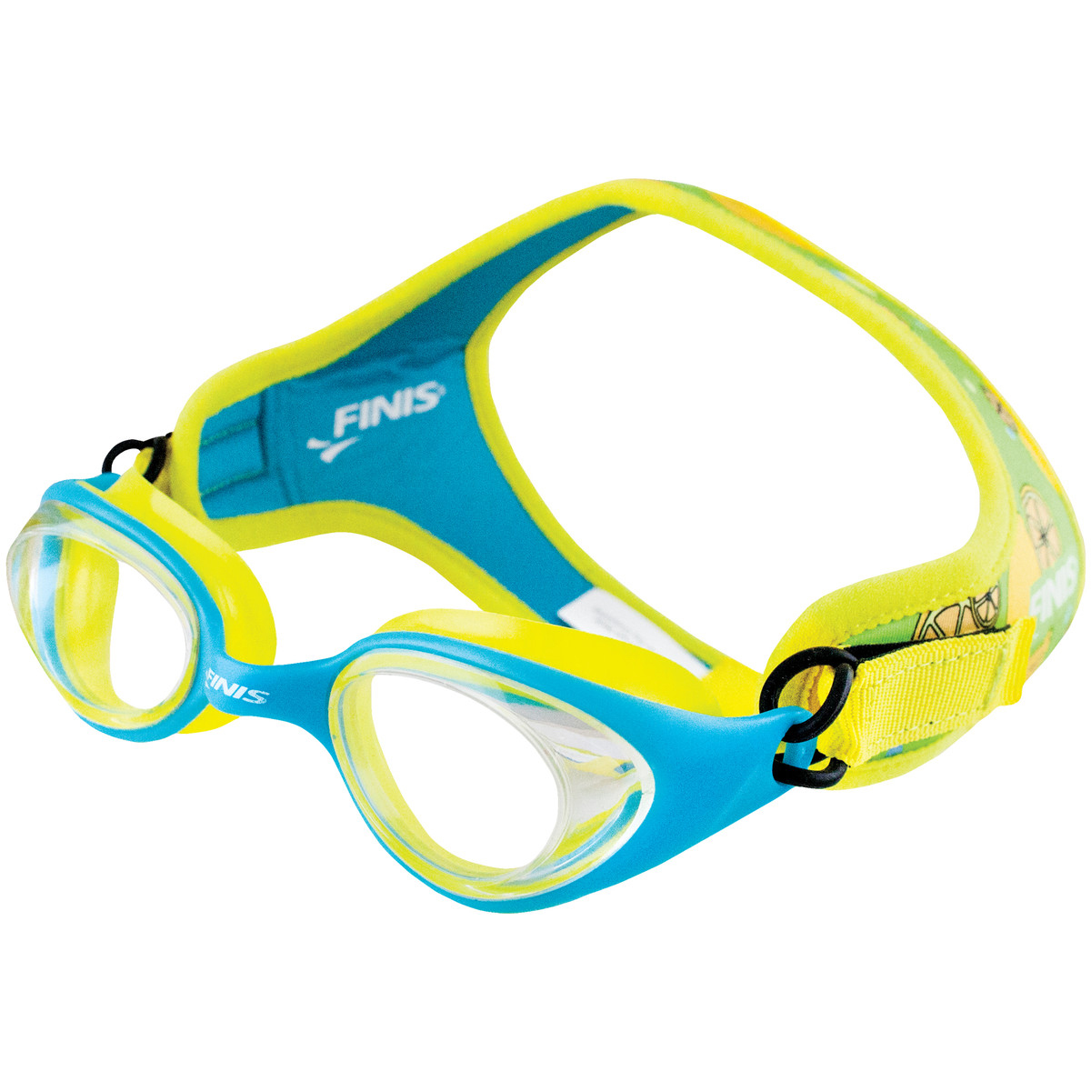 FINIS Frogglez Goggles Kids Swim Goggles Lemon with Clear Lenses
