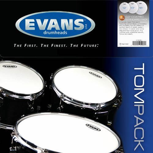 """Evans G2 Coated Standard Tom Pack (12-13-16"""") by D'Addario &Co. Inc"""