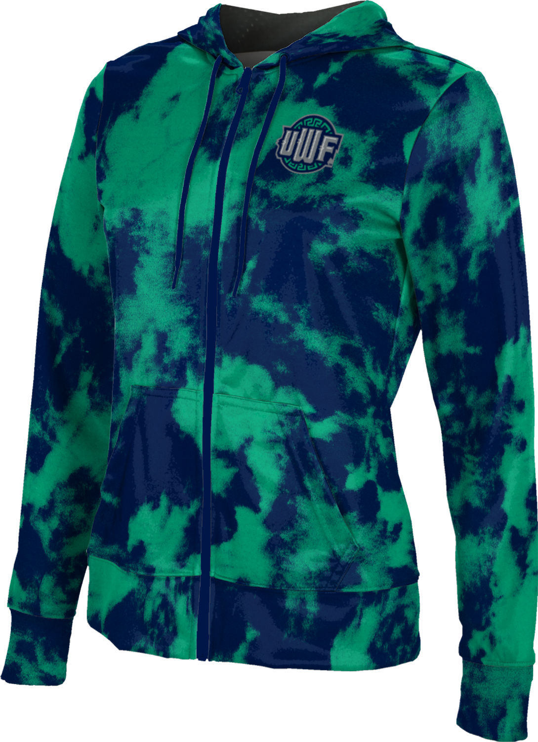 ProSphere University of West Florida Mens Fullzip Hoodie Grunge