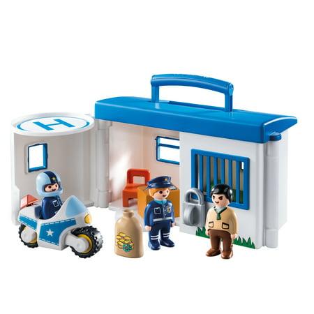PLAYMOBIL 1.2.3 Take Along Police Station (Police Station Playmobil)