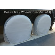"Formosa Covers Deluxe tire/wheel covers fits tire 36.5""- 41"" dia. for RV\'s, Travel Trailers, Toy Haulers, 5th wheel trailers, Truck, Van, SUV (Set of 4)"