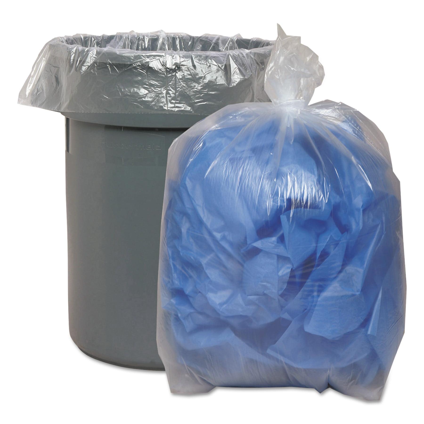 Boardwalk Super Extra-Heavy Trash Bag, 43x47, 1.4 Mil, 56gal, Clear, 10 Bag/RL, 10 RL/CT
