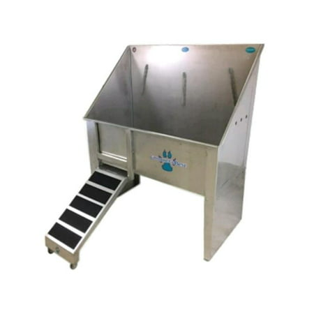 Groomers Best GB58WT-L 58 in. Walk-Through Bathing Tub with Left