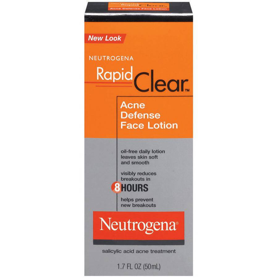 Neutrogena Rapid Clear Acne Defense Face Lotion, 1.7 fl oz