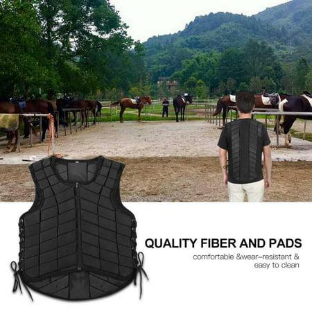 Black Unisex Horse Riding Equestrian Vest Protective Guard Body Protector Gear, Equestrian Protector, Horse Riding Body Vest