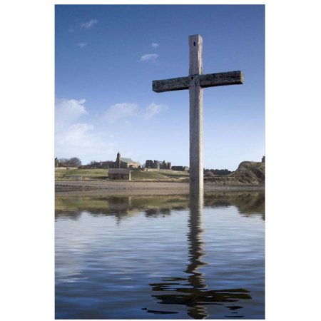 Cross In Water, Bewick, England by Eazl Cling
