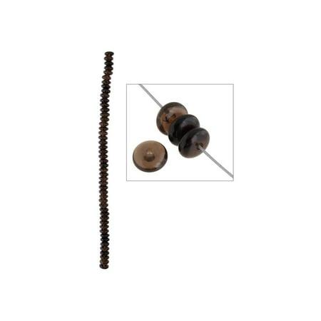 Smoky Quartz Rondelle Beads (John Bead 8