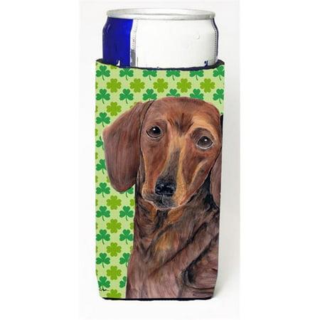 Dachshund St. Patricks Day Shamrock Portrait Michelob Ultra bottle sleeves For Slim Cans - 12 oz. - image 1 de 1
